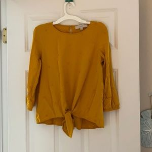 S/P Mustard Yellow Top from Loft. Keyhole Back
